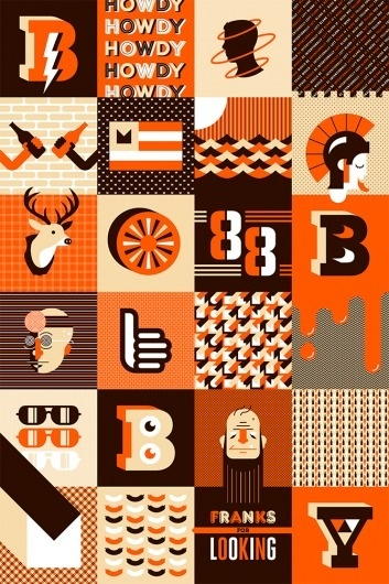 The Condensed Portfolio of Bobby McKenna #vector #bobby #mckenna #design #orange #illustration #poster #type