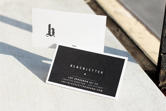 Blackletter Business Cards at Boxcar Press – Us #card #print #business