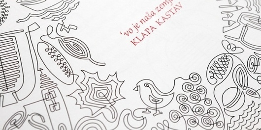 Klapa Kastav, CD Packaging - TheDieline.com - Package Design Blog #croatian #line #packaging #foreign #illustration #music
