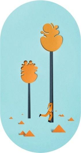 Eiko Ojala » Forest #cut #illustration #paper