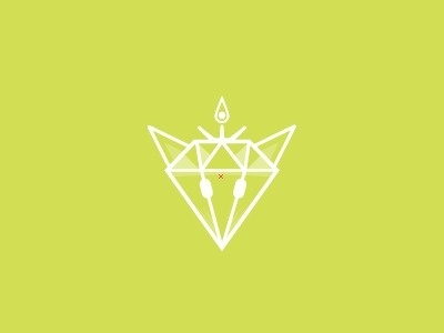 Dribbble - Diamonfox by Salvador Mendoza #mark #diamond #vector #fox