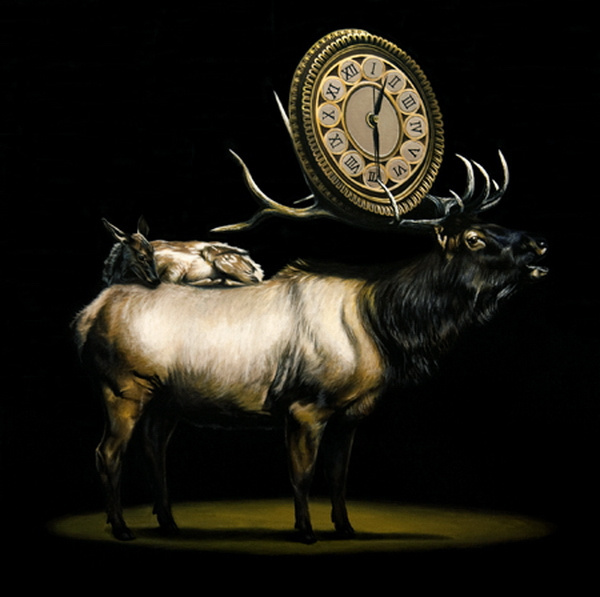 Stag in animal art #surrealism #realism #painting #paintings #art #animal