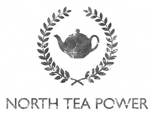 NORTH TEA POWER #branding #uk #tea #ivy #logo