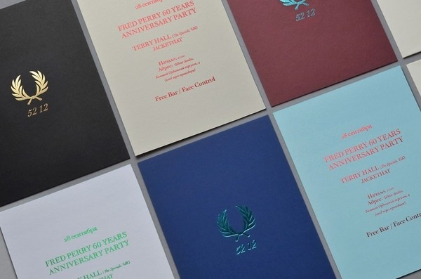 Fred Perry 52 12 by The Bakery | Incredible Types #letterpress #invitation #typography