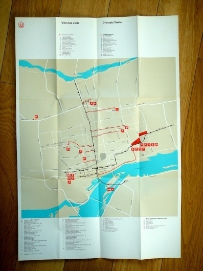 Montreal Olympics Trails Map / 1976 #1976 #montreal #print #design #graphic #map #olympics #trails