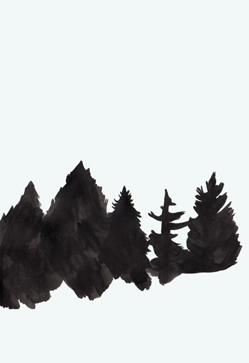 dannysturgess.tumblr.com #white #black #illustration #poster #and #painting #trees