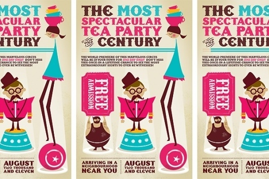 Vancouver Graphic Designer and Photographer #invitation #typography #circus #vintage #tea #ticket