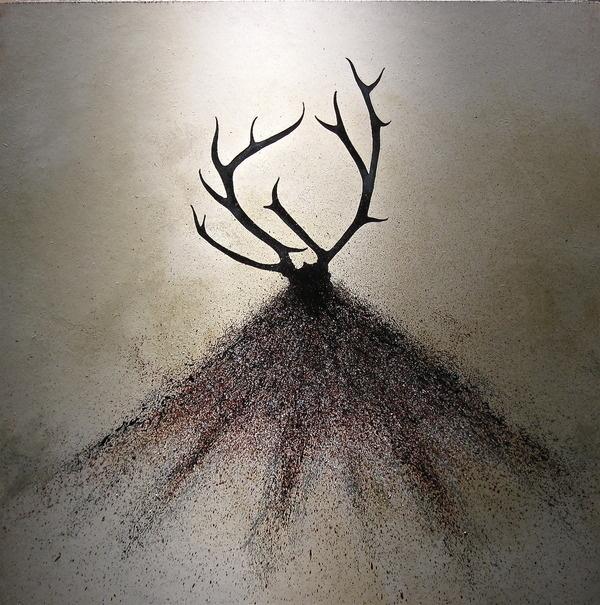 """Stalk"" by Scott Belcastro :: www.scottbelcastro.com #antlers #deer #hunt #stalk #design #illustration #silhouette #prey #animal"