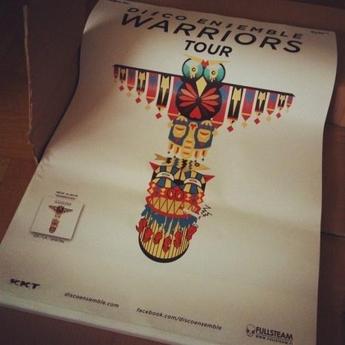 Disco Ensemble Warriors Tour #totem #disco #owl #print #poster #warrior #tour