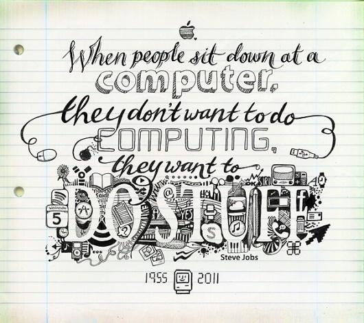 Illustration - Inkymole illustrations - Sarah Coleman #steve #rip #coleman #jobs #illustration #inkymole #sarah