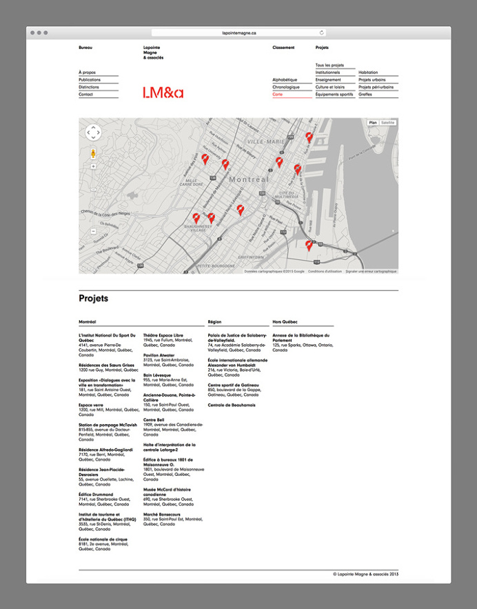 LM&a by Charley Massiera #web design #website