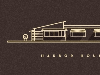 Dribbble - Harbor House by Sahand Nayebaziz #illustration #building #architecture
