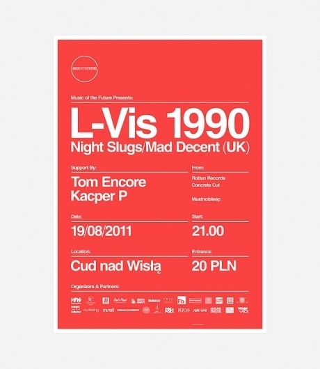 Music of the Future on the Behance Network #red #grid #poster #music #helvetica #typography
