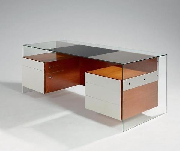 Desk #glass #wood #design #desk
