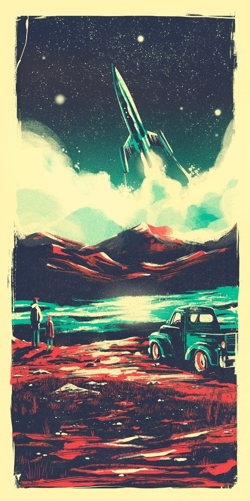 Interstellar-final #illustration #rocket #vintage #space