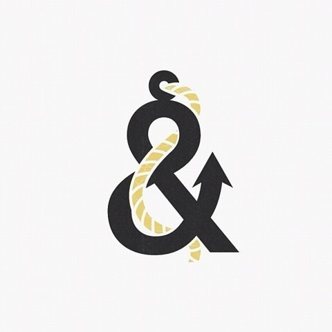 Typography / The Anchorsand by David Schwen. #ampersand #anchor #typography