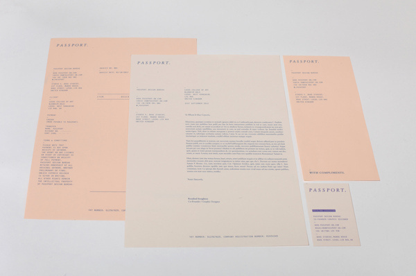 Passport Identity #invoice #business #branding #card #slip #identity #stationery #passport #letterhead #compliments
