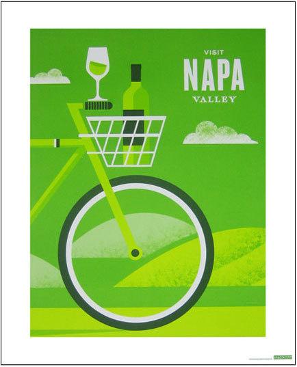 Hatch Design #bicycle #shading #napa #wine #geometric #illustration #moma #valley #noise