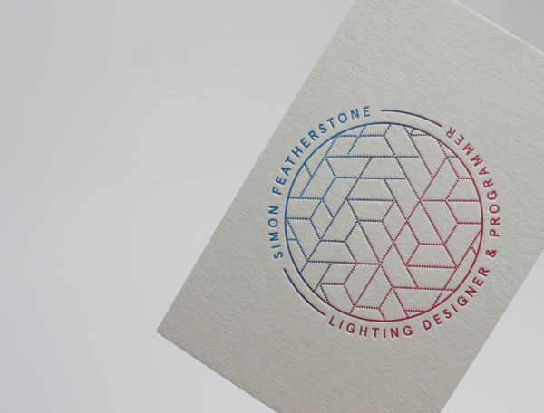 Simon Featherstone #business #branding #card #letterpress #identity #gradient #passport #logo #grey