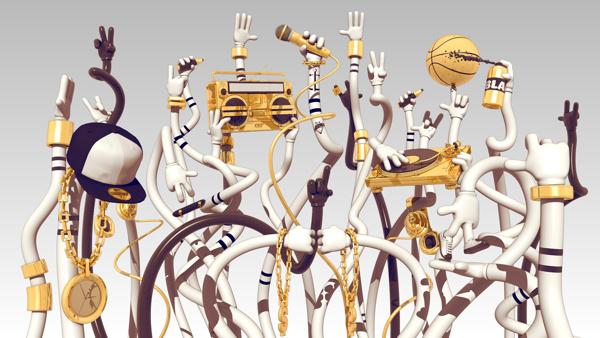 Hip Hop Awards on Behance #arms #3d