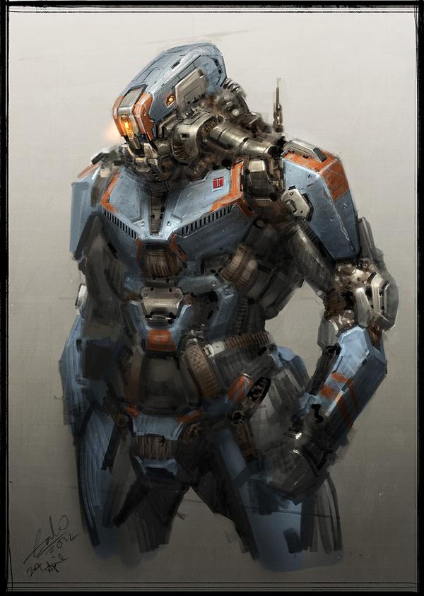 Robot Concept Art by Galan Pang #robot #fi #sci #space #mechanical #concept #art #mech
