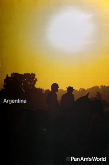 1971 Pan Am Posters | Minimalissimo #argentina #travel #posters #pan #helvetica #am