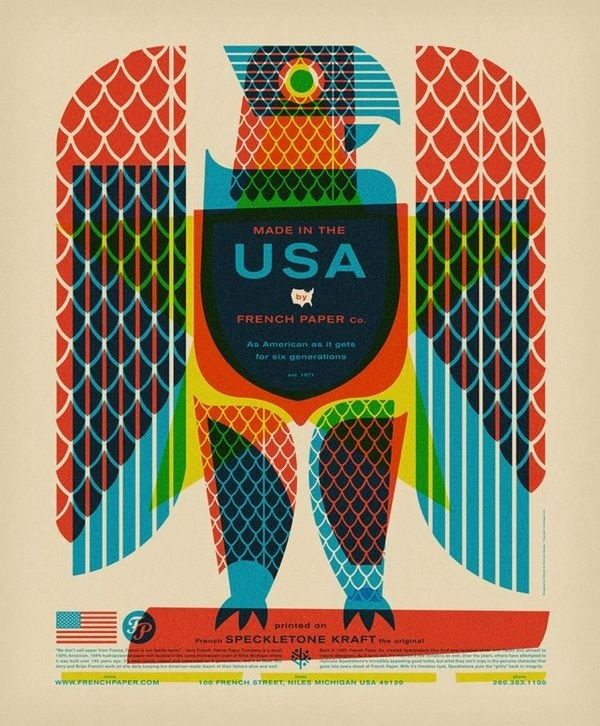 Nice design #usa #illustration #eagle #french
