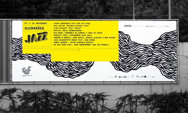 Guimarães Jazz 2013 on Behance #billboard #jazz #print #design #graphic #portugal #poster #typography