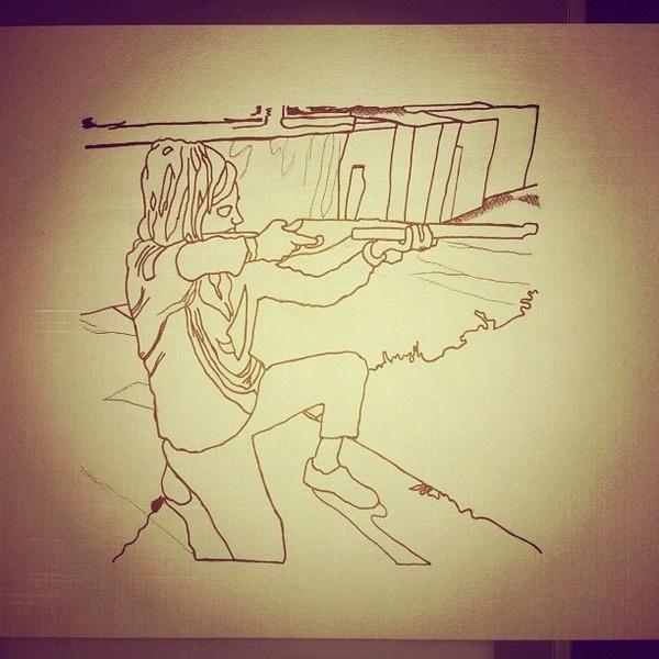 Gunshot #girls #illustration #guns #art #drawing