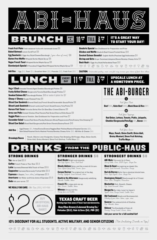 DesignersMX: ABI HAUS Menu by tsmk #print #design #menus #restaurant