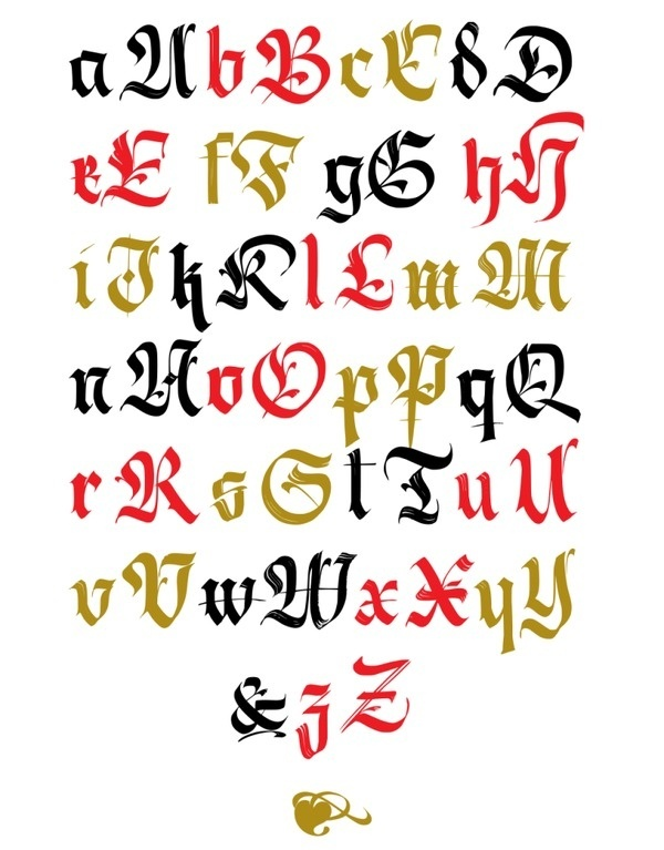 alphabet #calligraphy #font #typography