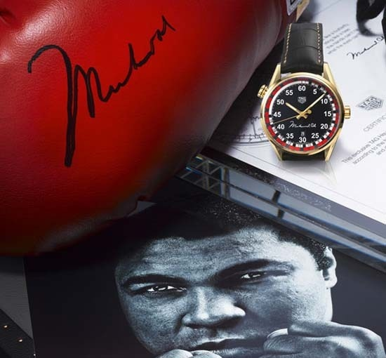 TAG Heuer Commemorates Muhammad Ali with Special Timepiece #MuhammadAli #TAGHeuerCarrera #RememberAli #TAGHeuerCarrera #Calibre5 @tagheue