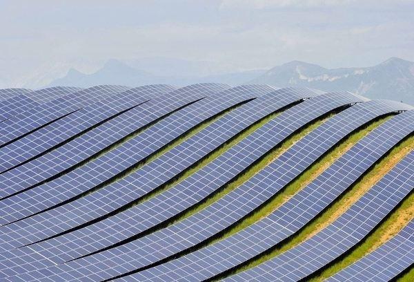 Solar farm,Les Mées,France #solar #france #environment #curves #photography #architecture #farm #energy