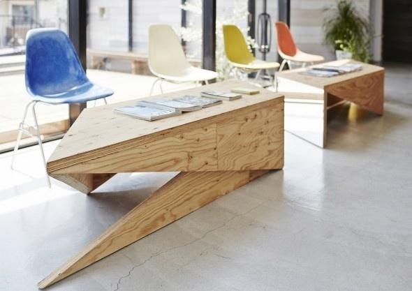 Salon de Coiffure – Slundre / BHIS | AA13 – blog – Inspiration – Design – Architecture – Photographie – Art #table
