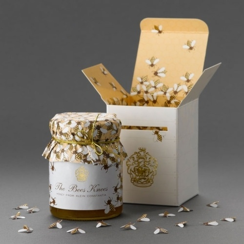 Honey packaging for Klein Constantia Farm by... #packaging #identity