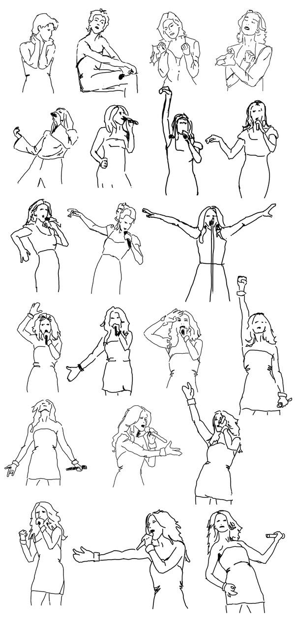 Celine Dion pose sketches collection #sketches #sketch