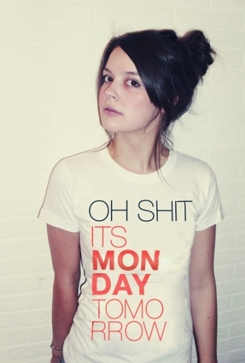 Cute monstR Shop - Graphic Shirt - I hate monday