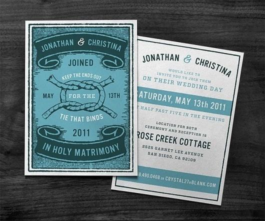 • TIE THAT BINDS : CURTIS JINKINS #card #wedding #invite