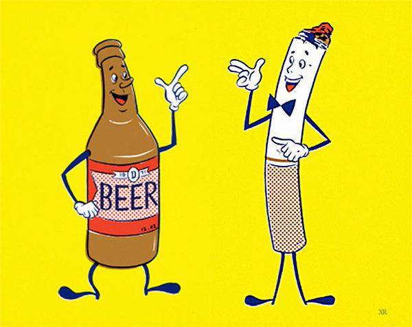 ... beer and cigarettes! | Flickr Photo Sharing! #illustration #beer #cigarettes