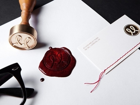 Personal Branding : Lovely Stationery . Curating the very best of stationery design #stitching #branding #namecards #seal #stationery #wax