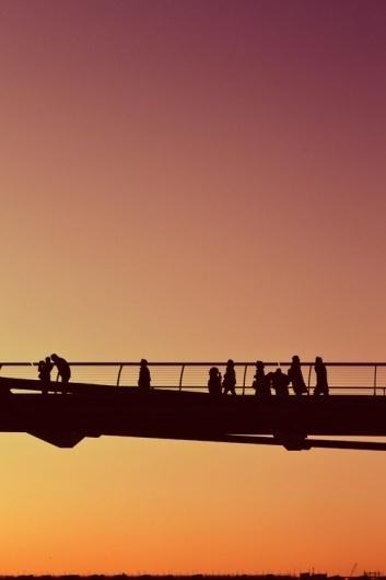 4096 Colours #bridge #sunset #silhouette