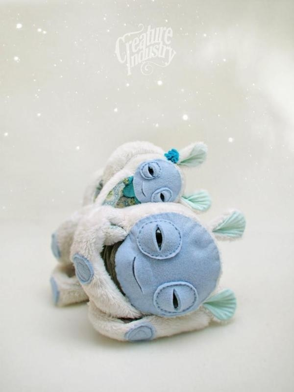 Snow Creatures on the Behance Network #plush #eyes #softness #snow #dream #blue #toy #creature