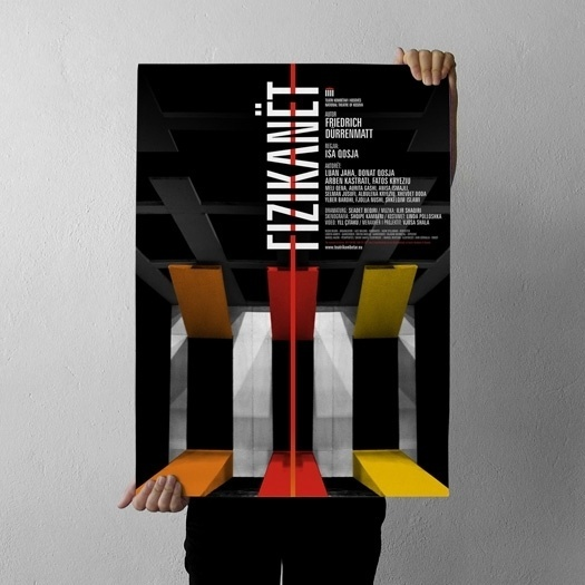 projectgraphics - typo/graphic posters #kosovo #prishtina #projectgraphics #poster #play #fizikant #thetre