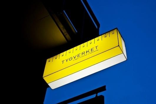 Tygverket on the Behance Network #signage