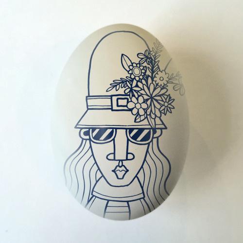 Easter bonnet. Illustration by Allan Deas www.allandeas.com