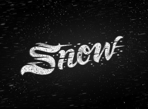 typeverything.com,byLindsey Kellis Meredith #lettering #snow #texture #love #typography