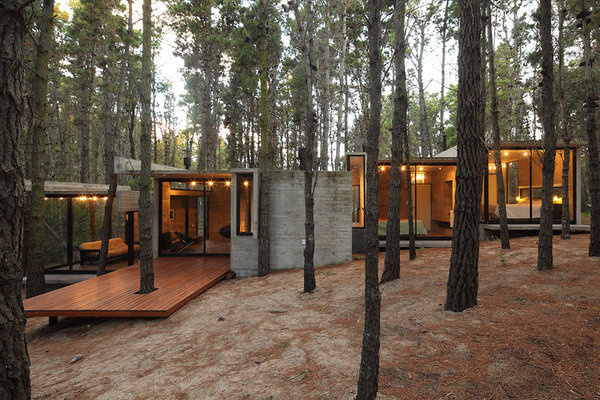 1: The AV House | A Forest Hideaway Proves Concrete And Cozy Can Go Together | Co.Design: business + innovation + design #concrete #architecture #modern