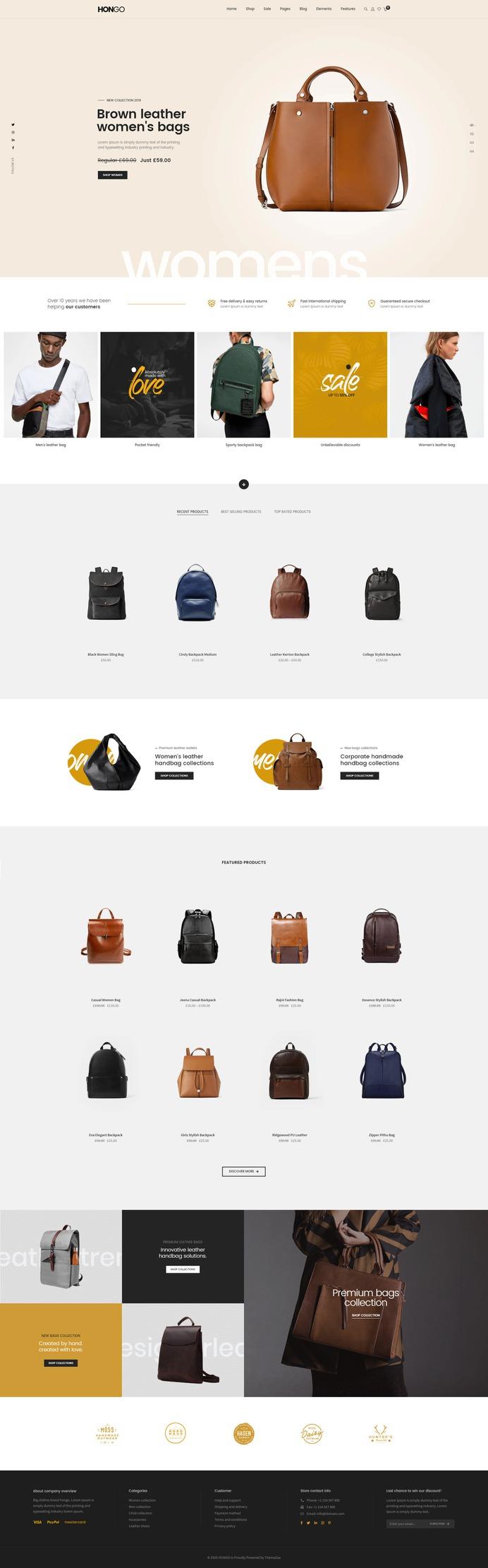 #Hongo #WooCommerce #WordPress Theme for #Leather Bags by #ThemeZaa