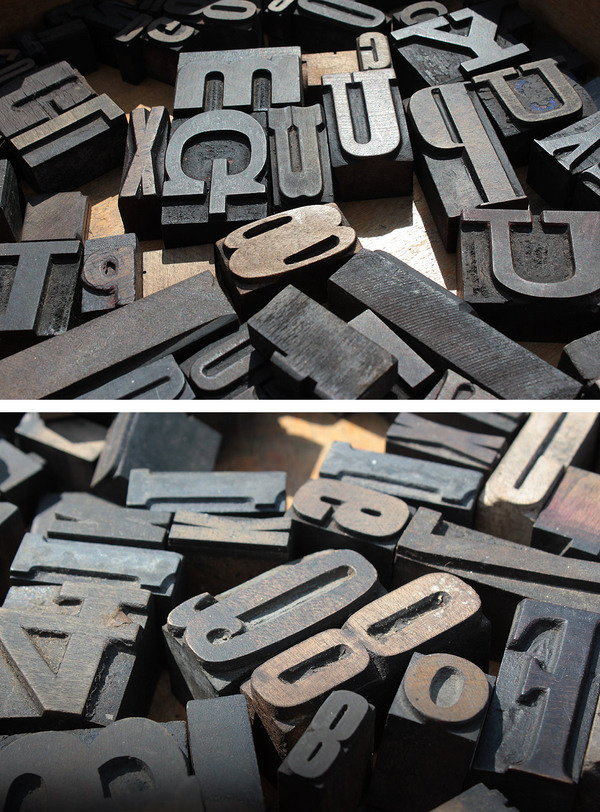 Wooden Letterpress blocks at the York Race Course car boot sale earlier this year. #lettering #wooden #letterpress #blocks #type #typography