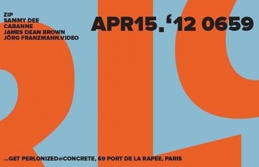 Facebook #panorama #flyer #bar #perlon #typography